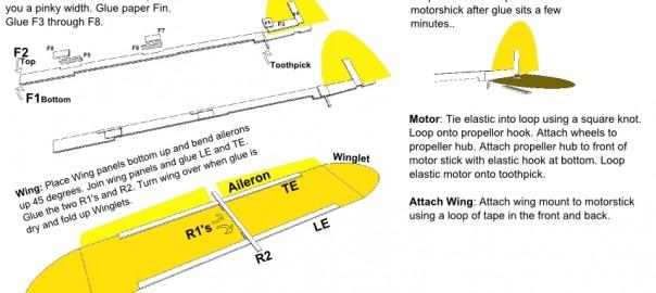 Dayton Instructions Rubber Band Airplane
