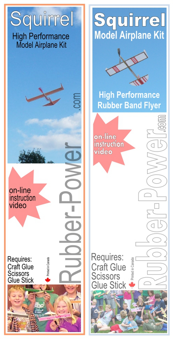 New Instructions And Packaging Rubber Band Airplane