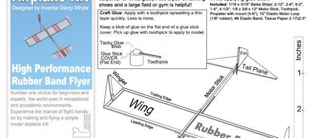 New Instruction Sheet In Testing Rubber Band Airplane